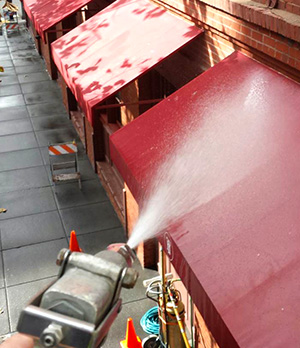 commercial storefront awning cleaning company in san francisco ca